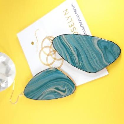 Turquoise Polymer Clay Earrings, Tu..